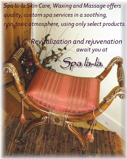 Spa la-la, the best spa for facials, massage, skin care and more in Gunnison, Colorado.